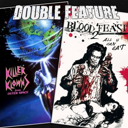 Killer klowns from outer space blood feast 2 double for Killer klowns 2